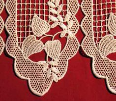 Delicate Patterns Of Macrame Valances And Tiers Including Lace Cafe Curtains  Imported From France