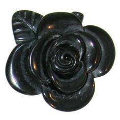 """1 1/2"""" Plastic Flower Ring, 7 In Black . $1.99"""