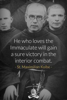 Maximilian Kolbe & his beloved Blessed Virgin Mary Catholic Religion, Catholic Quotes, Catholic Prayers, Catholic Saints, Roman Catholic, Church Quotes, St Maximilian, Catholic Gentleman, Blessed Mother Mary