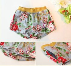 RUBY BLUE FLORAL SHORTS
