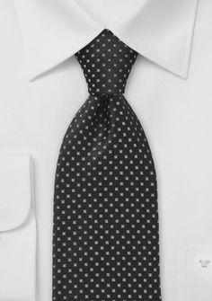 Small Squared Black Tie