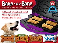 Bake-A-Bone The Original Dog Treat Maker - Purple -- Click on the image for additional details. (This is an affiliate link and I receive a commission for the sales)