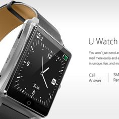 Bluboo U Smart Watch MTK2501 Bluetooth 4.0 Fluoroelastomer Band TFT Screen.