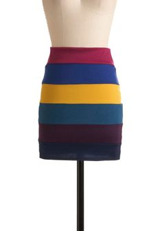 Girlfriend Power Skirt. Colorful bandage skirt...ech-hmm ModCloth