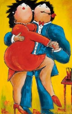 Image result for image of a cartoon fat couple doing the tango