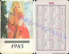 1985 - 1985 0429 - Régi magyar kártyanaptárak