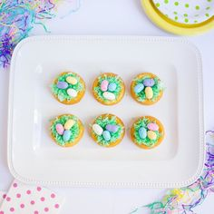 We like it easy and pretty when it comes to recipes. And that is exactly what @designimprovised did with these Easter egg nest cakes. Recipe in the link! #orientaltrading #easter #recipe #baking