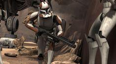 The Trooper Evolution Star Wars Film, Star Wars Poster, Star Wars Rebels, Star Wars Clone Wars, Star Wars Art, The Trooper, Clone Trooper, Star Wars Pictures, Star Wars Images