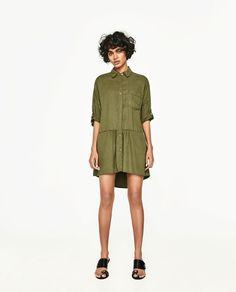ZARA - WOMAN - SHIRT DRESS WITH FRILL