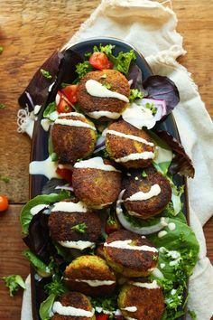 PERFECT 10-ingredient Classic Falafels! Crispy, tender, SO flavorful! #vegan #glutenfree #falafel #recipe #mediterranean