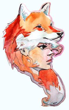 Fox Hat Girl by *taho on deviantART