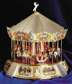 Miniature Musical Carousels and Sculptures by Balgara