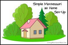 Montessori Monday - Simple Montessori at Home Set-Up