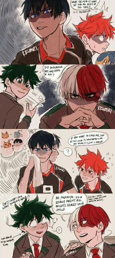 KageHina And TodoDeku / Haikyuu! / Boku no Hero Academia / I do not ship TodoDeku Boku No Hero Academia Todoroki, My Hero Academia Memes, Hero Academia Characters, My Hero Academia Manga, Haikyuu Funny, Haikyuu Yaoi, Haikyuu Ships, Haikyuu Volleyball, Volleyball Anime