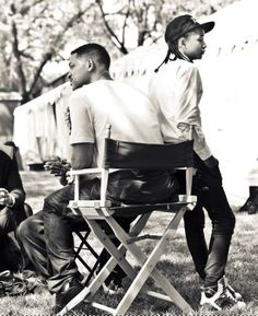 Will & Jaden Smith. Father and son. cute