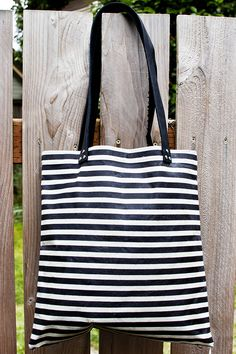 DIY: waxed canvas tote bag