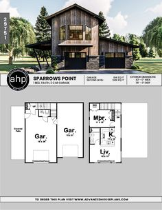 Discover a wide variety of modern garage ideas. Carriage House Apartments, Carriage House Garage, Garage House, Dream Garage, Garage Apartment Plans, Garage Apartments, Garage Plans, Barn Plans, Garage Ideas