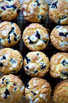 Lemon-blueberry muffins — my favorite! Sugar-crusted, lemony crumb, loaded with blueberries: what's not to love? This is a long-time family favorite recipe and always a crowd pleaser. Best Blueberry Muffins, Lemon Muffins, Blueberry Recipes, Blue Berry Muffins, Blueberry Breakfast Cakes, Blueberries Muffins, Greek Yogurt Muffins, Muffin Recipes, Baking Recipes