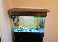 How to Build An Aquarium Stand Canopy 1 3 75 Gallon Aquarium, Aquarium Hood, Diy Aquarium Stand, Aquarium Fish Tank, Aquarium Ideas, 55 Gallon, Wood Canopy, Diy Canopy, Canopy Outdoor