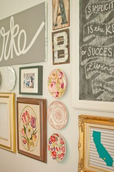 Pretty Plates in Gallery Wall