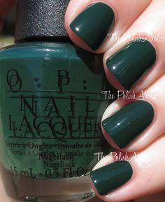 OPI Holiday 2014 Gwen Stefani Collection Swatches - Christmas Gone Plaid - nice but I'm sure I already have a few dark greens lol