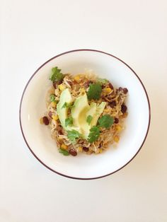 Taco de pollo en bowl | 19 Deliciosos almuerzos para oficina con menos de 400 calorías