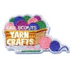 Yarn Crafts Girl Scouts Fun Patch