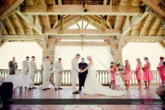 A bride and groom get marries at the Reach Resort. Key West, Florida