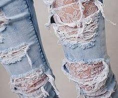 lace jeans (: