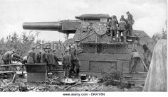 Big Bertha howitzer artillery gun, Liege, WW1 - Stock Image