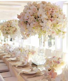 #centerpiece #blush #white #wedding #eventplanning