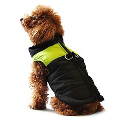 Dog Coat Vest Puffer / Down Jacket Dog Clothes Winter Warm Casual/Daily Keep Warm Color Block Yellow Red Black/Pink Black/Green Black/Blue 2017 - $11.39