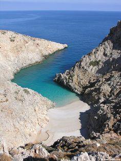 The cove of Seitan Limania near Akrotiri Crete Greek Isles, Beach Trip, Places To Visit, Around The Worlds, Crete Greece, Tours, Seitan, Travel Plan, Achilles