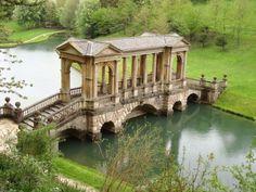 Bridge in Prior Park, town of Bath, Somerset, England. Photo by Ricardo Malagueño via PicturesOfEngland.com.