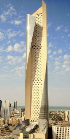 The Al Hamra Tower, Kuwait City, Kuwait;  Skidmore, Owings and Merrill, 2011;  photo Mohdalg