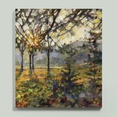 Rick Reinert creates a light-filled canvas that will brighten any space. Printed on gallery-wrapped canvas with a textured gel finish hand-applied by knife.