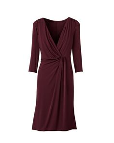 Drape detail wrap dress - I just bought this on clearance.  Can anyone recommend accessories, shoes, etc.?  How should I wear it?