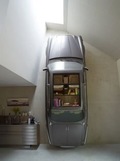 When you start using luxury autos as book shelves, you may have too much money.