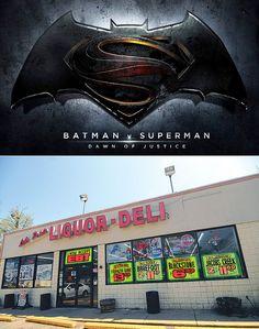 Worlds Finest News | Batman v Superman Film Scenes at Convenience Store in Keego Harbor, MI.