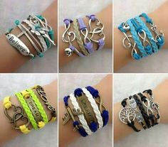 DIY  creative bracelets - 10 Creative DIY Bracelet Tutorials. I love the dark blue