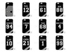 EXO Exodus Kai Lay Suho Tao Xiumin Chen Kpop Phone Case Cover for iPhone Samsung #SeventyCase
