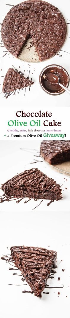 Moist Chocolate Olive Oil Cake Recipe | VeganFamilyRecipes.com | #clean eating #dessert #dark chocolate #vegan
