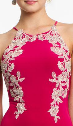 Jersey Dress with Applique #camillelavie