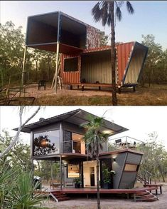 Be immersed in the rugged beauty of our Northern bushland, from the luxury and comfort of this two story (dressed up) shipping container. innenarchitektur modern The Magnificent Hideaway Litchfield Container Cabin in Nature – Australia Container Home Designs, Building A Container Home, Container Buildings, Natur House, Shipping Container Cabin, Shipping Containers, Usa Living, Casas Containers, Australia Living