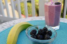 Super Foods Blackberry and Banana Smoothie #SoFab