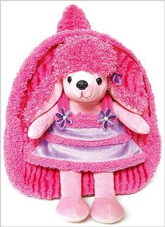 7bcce287f930 Best Buddy Backpack with Removable Plush – Poodle in Dress Poodle Dress