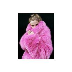 Colour Me Pink / fur coat via Polyvore
