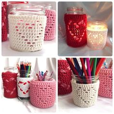 This pattern can be made as a decorative storage jar cover or you can pop a tea light inside a glass jar for a beautiful candle cover which gives a dancing display of light.If you wish to use as a candle cover, please use 100% cotton yarn to give the best heat resistance and avoid melting of synthetic fibres.This pattern is written so you can easily adjust the size to fit your choice of jar or other container. Choose a yarn size and hook to fit your choice of jar, as a guide, I have used…