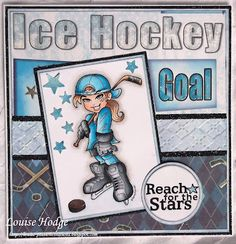 """My papers are from Forever in Time """"Let's play hockey collection"""""""