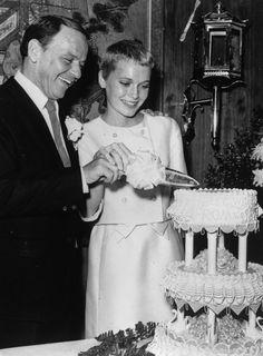 Mia Farrow and Frank Sinatra's wedding.